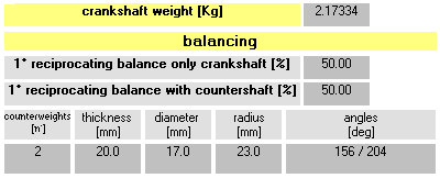 Software Crankshaft Balance Design - Design Balancing and Inertia Crankshaft two stroke single cylinder engine - by NT-Project