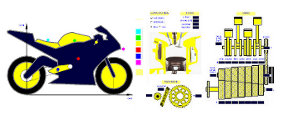 Software SET-UP Bike - Dynamic Simulation Racing Bike - Forecast optimal bike and suspension setting - Analysis suspension load - brake - performance - gear ratio - weight distribution - by NT-Project